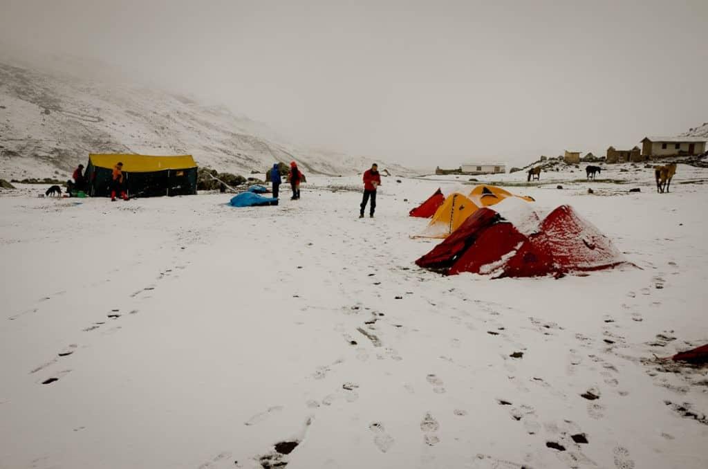 hiking-through-snow-in-peru