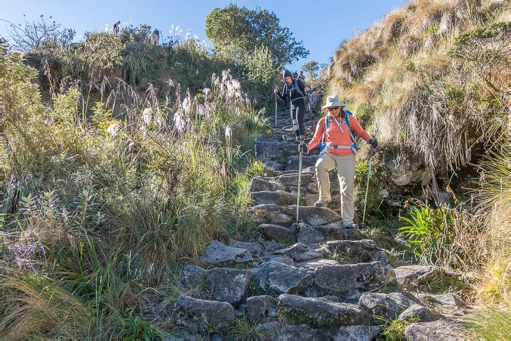 Inca-trail-hike-steps, Inca trail facts
