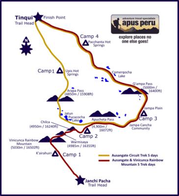 ausangate-trek-map