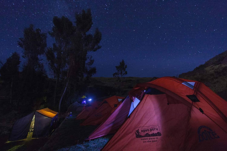 Apus Peru trek camping