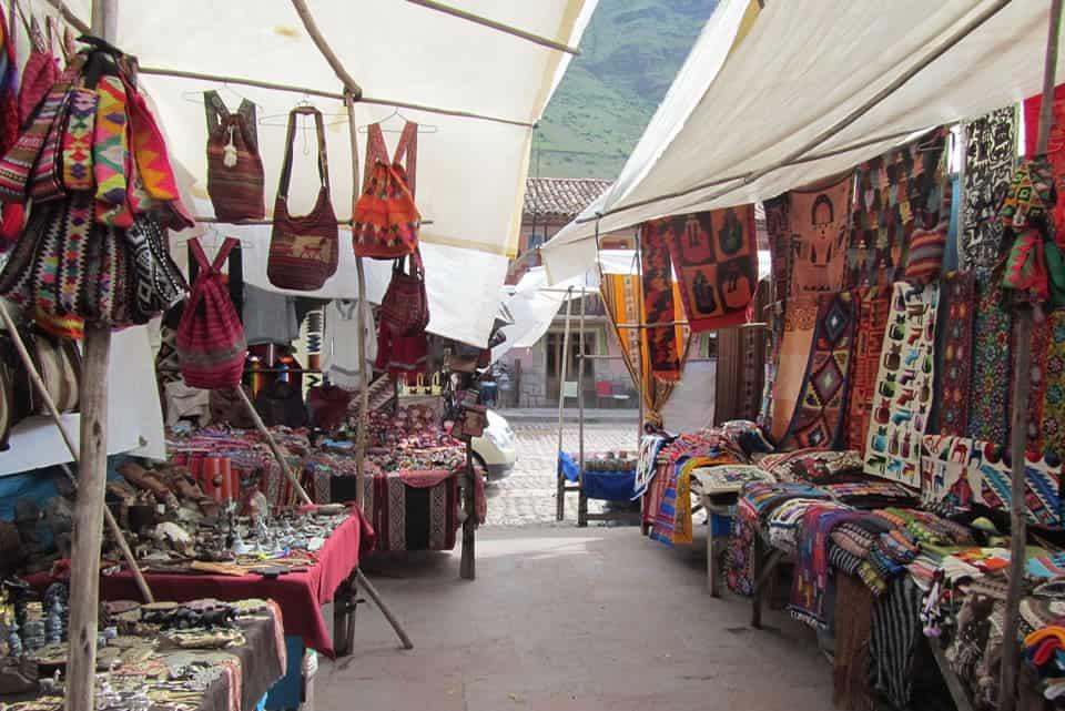 Artisan market Sacred Valley Peru