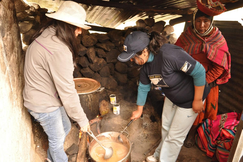 Christmas chocolatada Peru