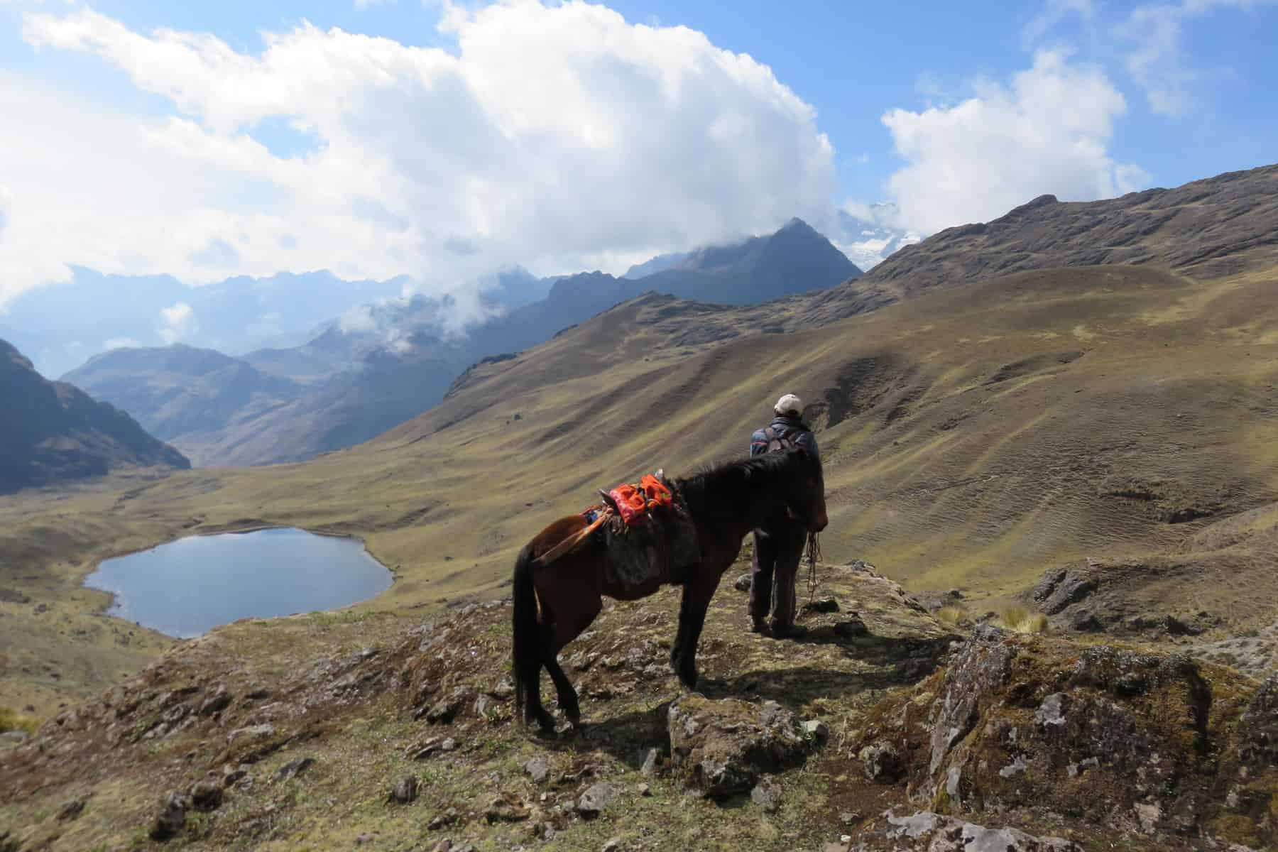 Lares valley trek view