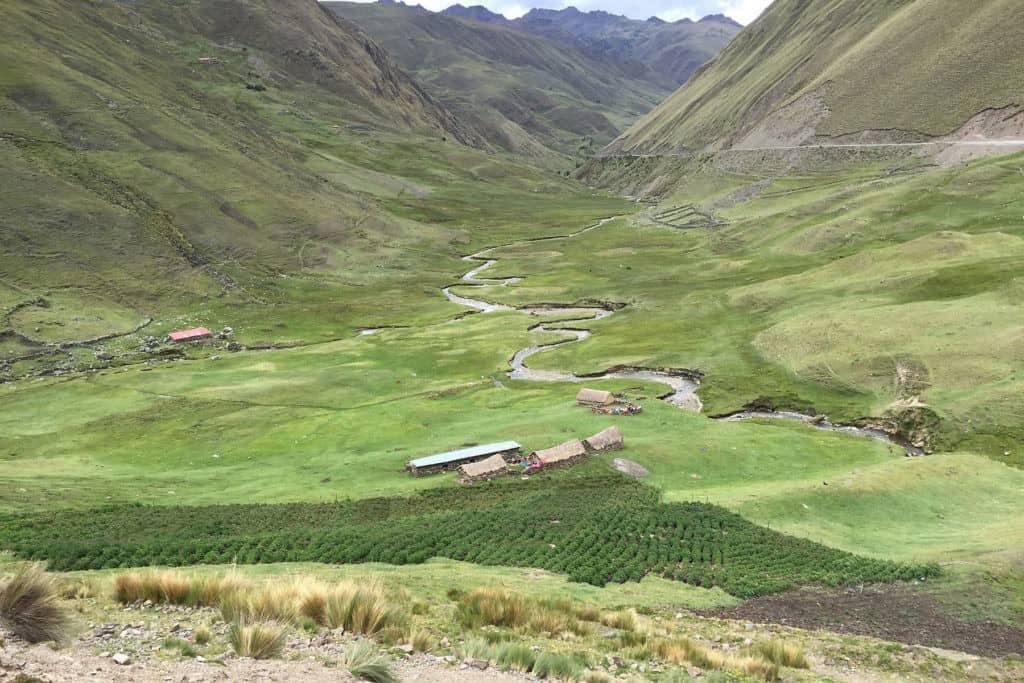 Lares valley trek wet season