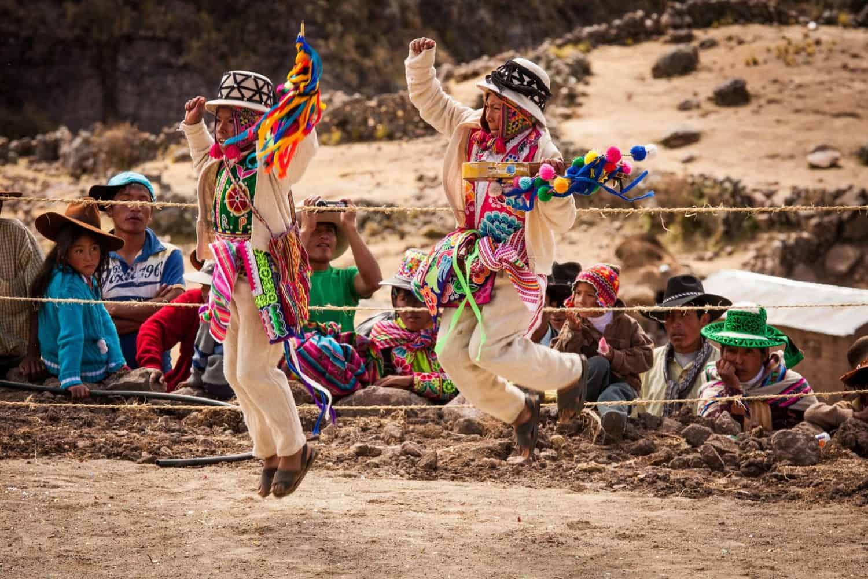 Qeswachaka cultural festival dances