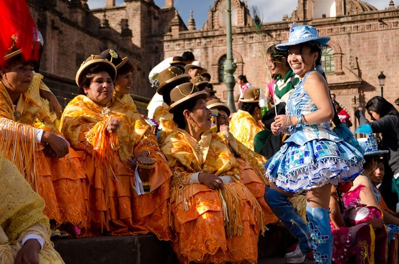 Puno style dancers