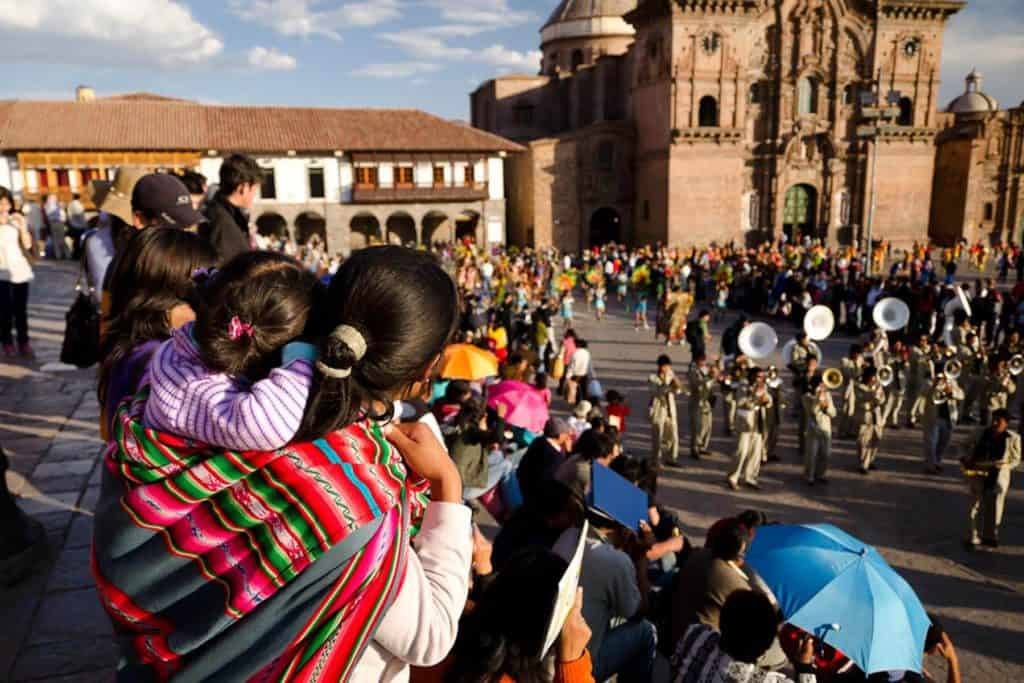 What is the best time to visit Cusco? picture of cusco festival