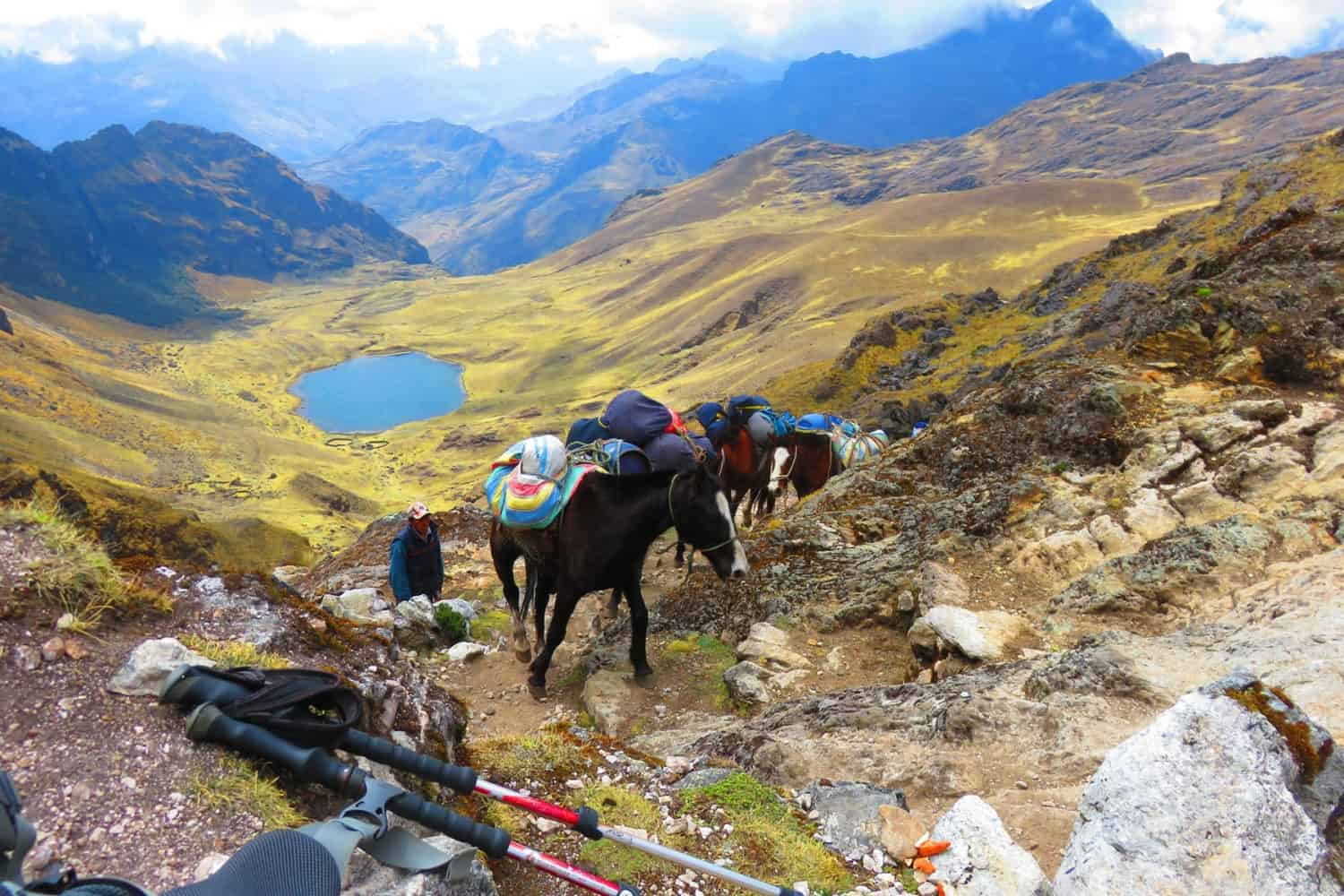 Lares valley trek landscape