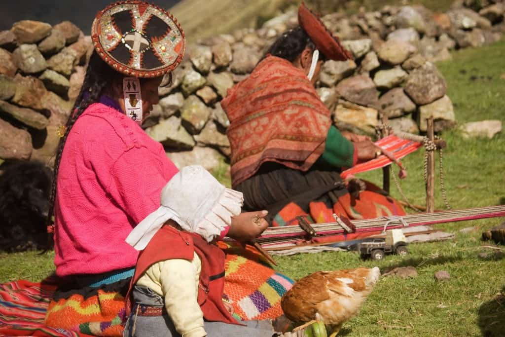 Lares valley trek Andean culture