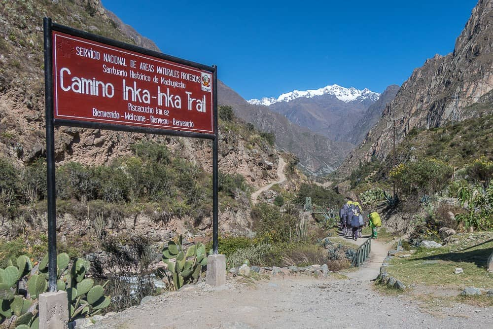 Inca Trail sign, facts about the Inca trail