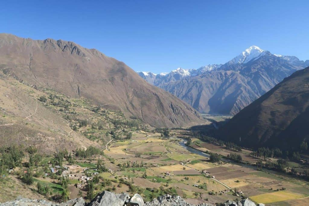 The Sacred Valley of the Incas; famous places in Peru